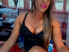 BLACKFANTASYSXX - shemale with brown hair and  small tits webcam at ImLive