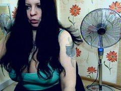 BlackyCat - female with black hair and  big tits webcam at LiveJasmin