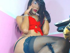 DAKKOTHA - shemale with black hair and  small tits webcam at ImLive