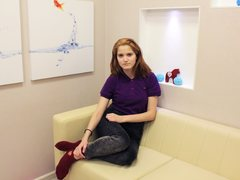 FloKamila - female with red hair and  small tits webcam at ImLive