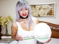 KimberStoneTS - blond shemale webcam at ImLive