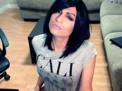 kxaxmichelle - shemale with black hair webcam at ImLive