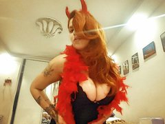 LolaDeVille24 - female with red hair and  big tits webcam at ImLive