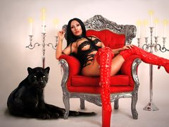 PantheraXRED - female with black hair and  small tits webcam at ImLive