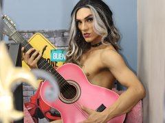 PaulynaSmith - shemale with black hair and  small tits webcam at LiveJasmin