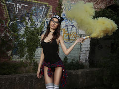 AdrennaLyne - female with brown hair and  small tits webcam at LiveJasmin