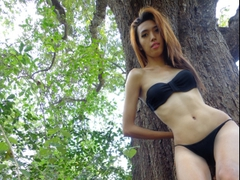amazinghana - shemale with brown hair and  big tits webcam at LiveJasmin