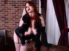 curvyPamela - female with red hair and  big tits webcam at LiveJasmin