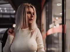 defne - blond female with  big tits webcam at LiveJasmin