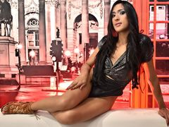 ESTRELLAHARRYSON1 - shemale with black hair and  small tits webcam at ImLive