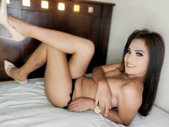 TRANNYcumX - shemale with black hair webcam at LiveJasmin