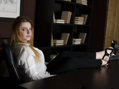 BettieCaroline - blond female with  big tits webcam at LiveJasmin