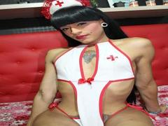 CoralineJones - shemale with black hair and  small tits webcam at xLoveCam