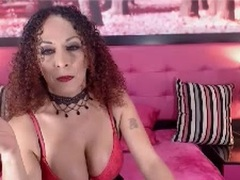 xKhazzandrax - shemale with brown hair and  big tits webcam at LiveJasmin