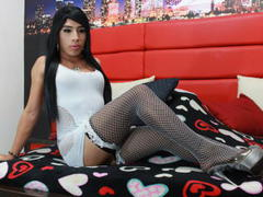 KIMSEXYDOLLTS - shemale with black hair webcam at ImLive