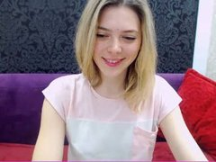 PaulaG - blond female with  small tits webcam at xLoveCam