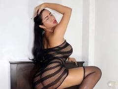 SensualBunnyy - shemale with black hair and  small tits webcam at LiveJasmin