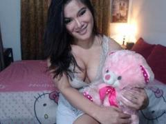 SweetEyesTS - shemale with black hair and  small tits webcam at xLoveCam
